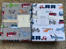 POTTERY BARN KIDS Brody Full/Queen Duvet & FULL Brody Sheets Set NEW