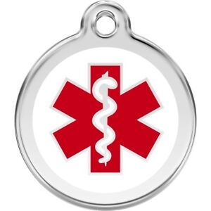 Medical Alert Tag Engraved Identity Tags / Disc with Free Engraving. (1MD)