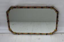 "Vintage/retro Art Deco  Wall Mirror  Colour Pattern  Frame 22"" x 13"" VGC"