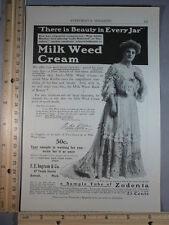 Rare Original VTG Milk Weed Cream, Vose Pianos, Taroena Advertising Art Print