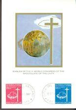 Vatican City Sc#453-4: Third World Congress for Lay Apostolate on Maxi Card