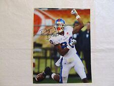 "Autographed Dezmon Briscoe 11"" x 8 ½"" Photo Kansas Football Jayhawks"