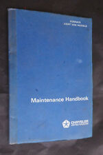 COMMER LIGHT VAN MODELS MAINTENANCE HANDBOOK 1973 - FINE condition.