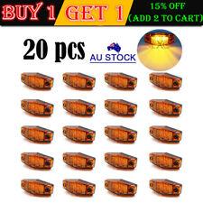 20x Amber LED Side Lamp Clearance Marker Indicator Light Truck Trailer RV 12V24V