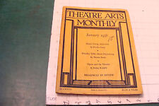 THEATRE ARTS MONTHLY jan 1938 w henry Irving 1838-1938; MARTHA GRAHAM