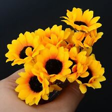 Decor Yellow Wedding Sunflower Party Bridal Headpiece Headband Hair Pins Clips