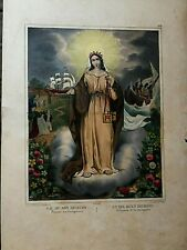 N. D.of Bon First Aid, N. S.Fine Relief, Lithograph Original of Turgis,