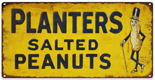 Planters Salted Peanuts Advertising Metal Reproduction Sign 6x12 60217