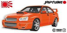Subaru WRX Impreza   - Orange- JDM - JapTune Brand