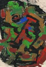 ABSTRACT Oil Painting On Paper SIGNED 1962