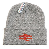 BR British Rail Beanie Hat Heather Grey with Red Arrows