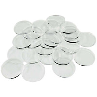 Litko Game Accessories 25mm Clear Circular Miniature Bases 1.5mm Thick (25 p...