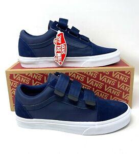 VANS Old Skool V Surplus Nylon Suede Canvas Dress Blue Men's Sneakers VN0A3D29QE