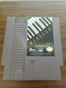 Miracle Piano Teaching System Game Cartidge Nintendo NES Rare Tested Works