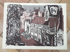 MARGARET SOUTTAR 1914-87 Limited Ed LITHOGRAPH Selwyn College Cambridge 71/75