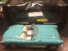 BURAGO 1/18 3024 Chevrolet Corvette 1957 Turchese IN BOX -11/17