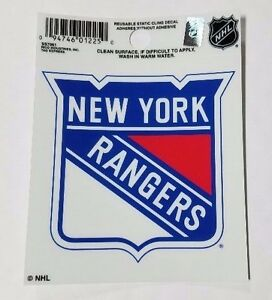 """New York Rangers 3"""" x 4"""" Small Static Cling - Truck Car Window Decal NEW NHL"""