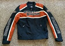 Harley Davidson Men's Cruiser textile jacket Black Orange White size Large