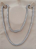 8.50ct  AVERAGE REAL 100% diamond Eternity necklace 14k white gold 18 INCH