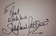 SALLY ANN MATTHEWS SIGNED 6X4 WHITE CARD TV AUTOGRAPH EMMERDALE CORRIE TO PAUL