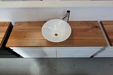 Nevada 1500 Wall Hung Vanity 40mm Wormy Chestnut Timber Bench Top