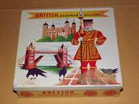 VINTAGE ADVERTISING MADE IN ENGLAND TUDOR BRITISH ASSORTED BISCUITS TIN