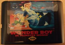 Mega drive game-wonder boy in monster world-cartridge only-reproduction