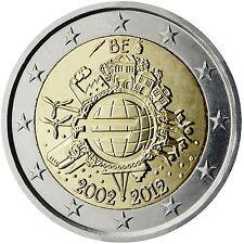 """2 €  Belgien  2012   """" 10 Jahre Bargeld """"  STG"""