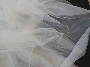 Bianco Sporco Sposa Matrimonio Morbido Tulle Velo Tessuto Fai 150cm Largo. Per