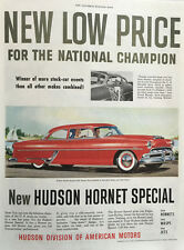 1943 Hudson Hornet Coupe - Big 11x14 Vintage Advertisement Print Car Ad LG40
