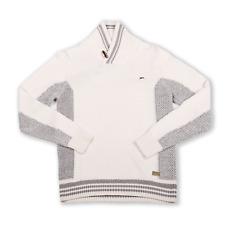 """A. Tiziano Oyster """"Carson"""" Pullover Shawl Collar Sweater"""
