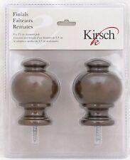 """Kirsch Wood Trends Finials Button Ball for 1 3/8"""" Pole Curtain Hazelnut 5629G827"""