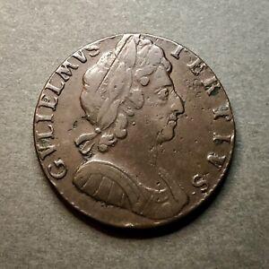 🏴 1696 William III Halfpenny (peck 641)
