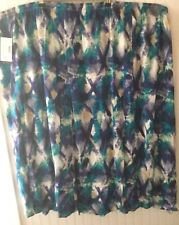Maggie Barnes 5X 30/32W Purple Aqua Cross Skirt Catherines NWT