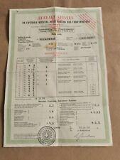 Rolex 1969 Certificate BUREAUX SUISSE Chronometres 100% Original