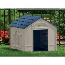 Weather Resistant Outdoor Dog House Removable Roof Crowned Floor Plastic Large