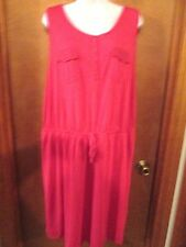 "Ladies ""Sonoma"" Size 1X, Very Berry(Pink), Sleeveless, Elastic Waist, Knit Dress"