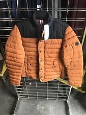 Men's Scotch & Soda Mid Season Jacket Primaloft Quilted Blk/Orange Puffer XL