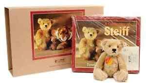 STEIFF TEDDY BEAR BLONDE 22 & CELEBRATION OF STEIFF GIFT BOOK SET #665325 MINT