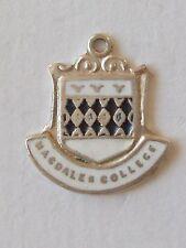 Magdalen College, Oxford University sterling silver enamel travel charm vintage