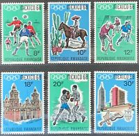Rwanda. Mexico Olympics Stamp Set from MS254. 1968. MNH. (X145)