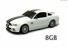 Ford Mustang GT USB Flash Drive 8GB - White  Landmice