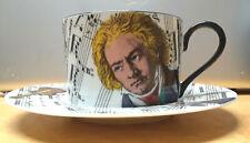 Vtg Fitz & Floyd Divertimento Cup & Saucer Set Fine Porcelain Made in Japan