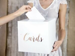 Rustic Rose Gold Wedding Post Box, Wedding Cards Box, Rose Gold WED9970