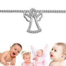 Kinder Frauen fliegender Schutz Engel Zirkonia Anhänger mit Kette Silber 925
