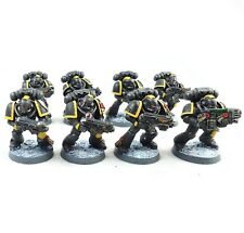 Warhammer 40k Army Space Marines Red Scorpions 8 Man Squad Painted