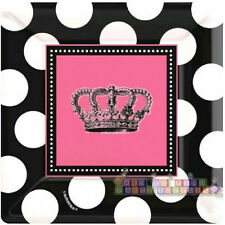 PRINCESS ROCKER SMALL SQUARE PAPER PLATES (8) ~ Birthday Party Supplies Cake