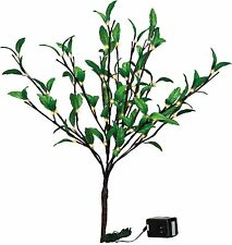 "Nature's Glow Green Leaf Twigs Indoor Lighted Branch, 60 Lights, 19.75"" Tall"