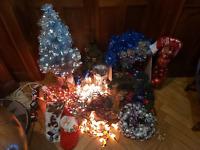 Gros lot décorations Noël guirlandes boules sapin lumineux