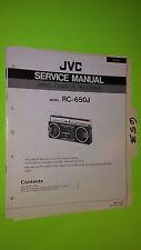 JVC rc-650 service manual original repair book stereo tape boombox radio